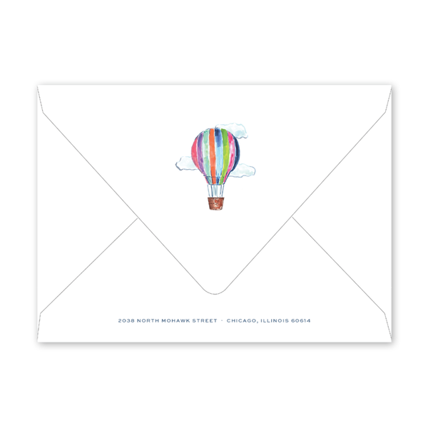 Hot Air Balloon Animals Birthday Envelopes