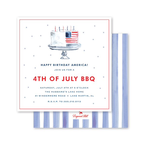All American Summer Fourth of July Party