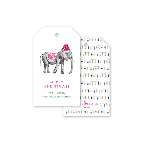 Animal Train Elephant Gift Tags