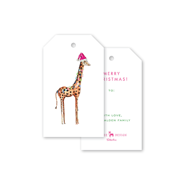 Animal Train Giraffe Gift Tags