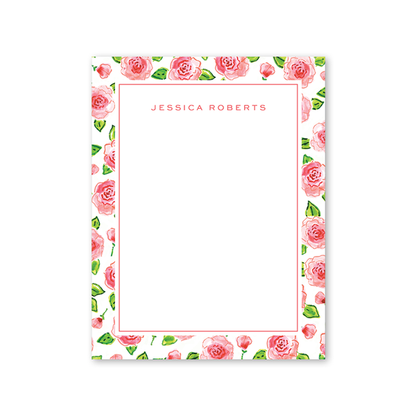 Champagne and Rosè Border Notepad