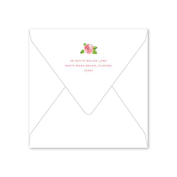 Champagne and Rosé Bridal Tea Envelopes