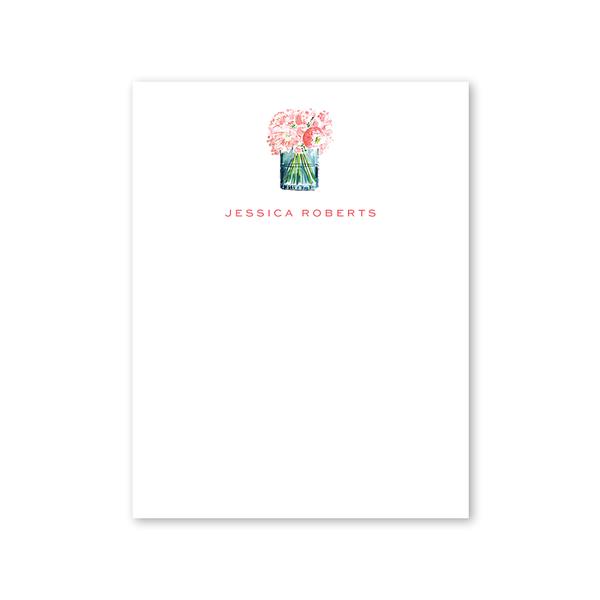 Champagne and Rosè Floral Notepad