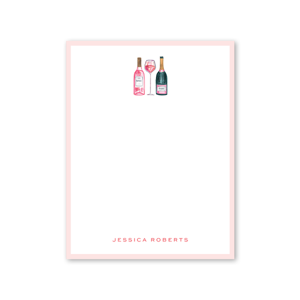 Champagne and Rosè Notepad
