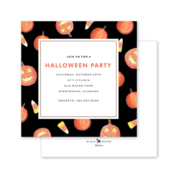 Fall Festival Halloween Invitation