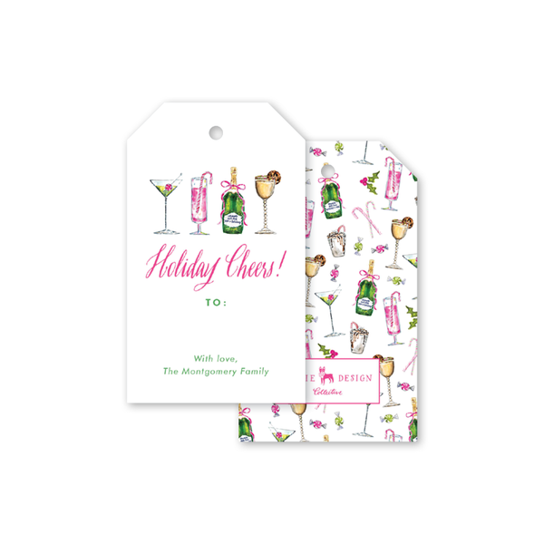 Holiday Things Christmas Cocktails Gift Tags