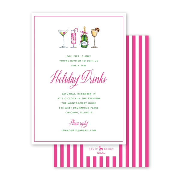 Holiday Things Cocktails Invitation