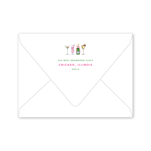 Holiday Things Cocktails Invitation Envelopes