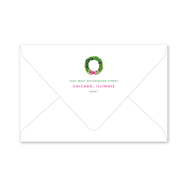 Holiday Things Wreath Envelopes