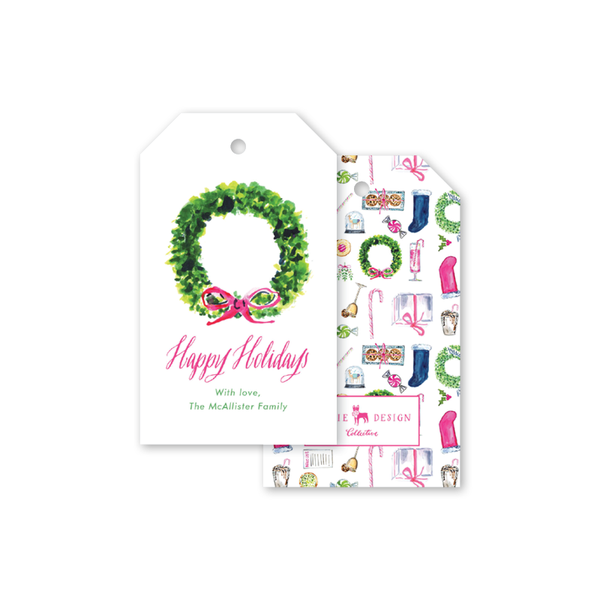 Holiday Things Wreath Gift Tags