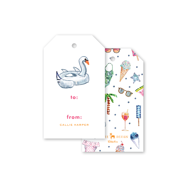 Pool Party Gift Tags