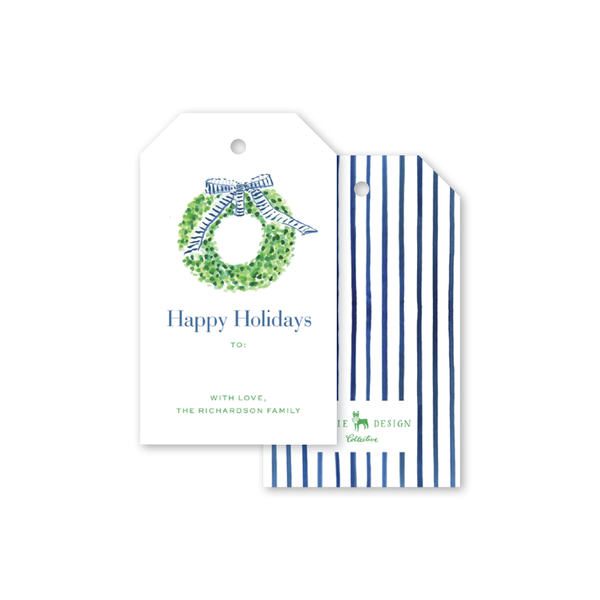 Preppy Wreath Gift Tags