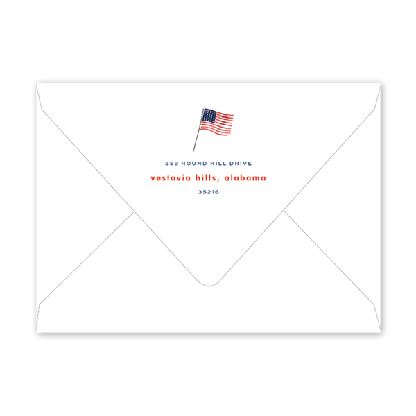 All American Summer Couples Shower Envelopes