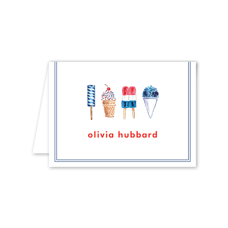 All American Summer Folded Notecard