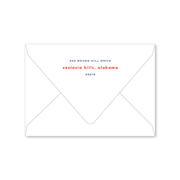 All American Summer Folded Notecard Envelopes