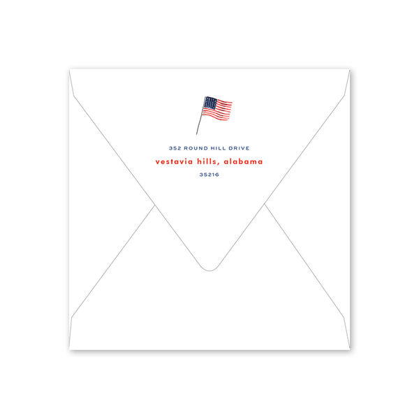 All American Summer Fourth of July Party Envelopes