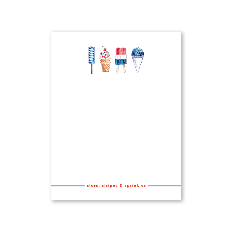 All American Summer Notepad