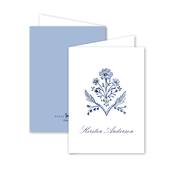 Chinoiserie Wicker Folded Notecard