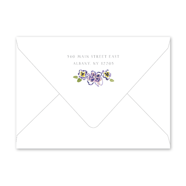 African Violets Baby Shower Envelopes