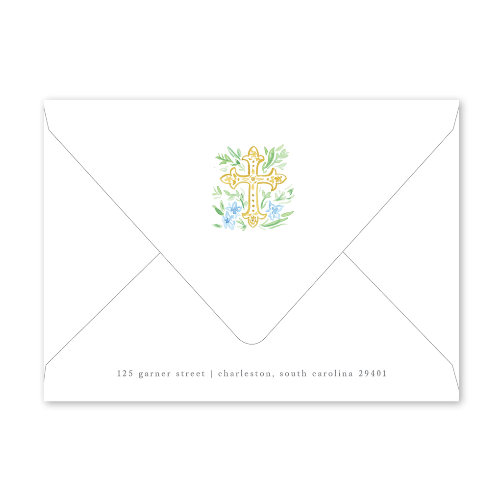 Blue Cross Birth Announcement Envelopes