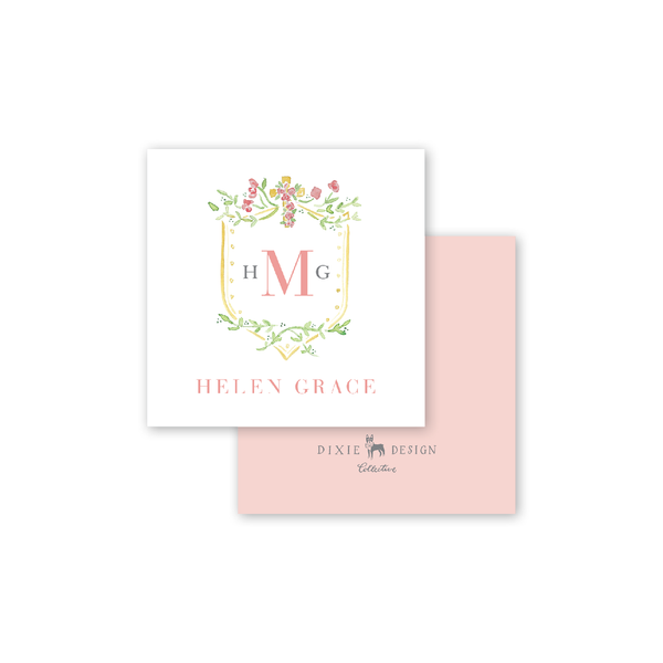 Pink Cross Calling Card