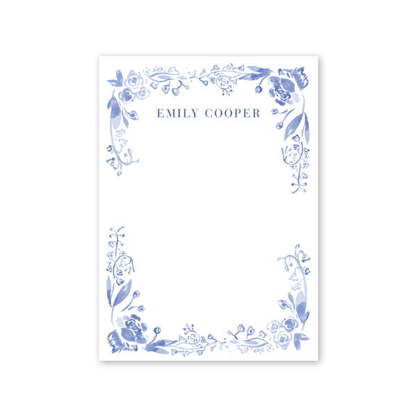 Blue and White Notecard