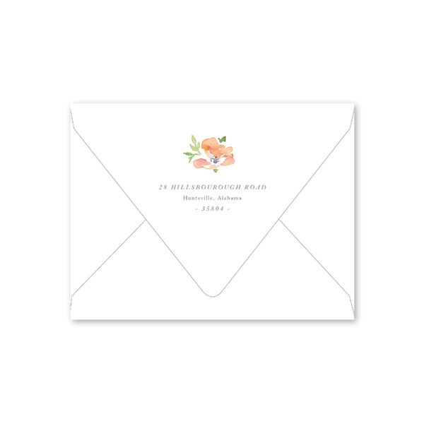 Garden Wreath Baby Shower Envelopes