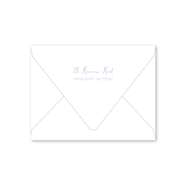 Iris Wreath Bridal Shower Envelopes