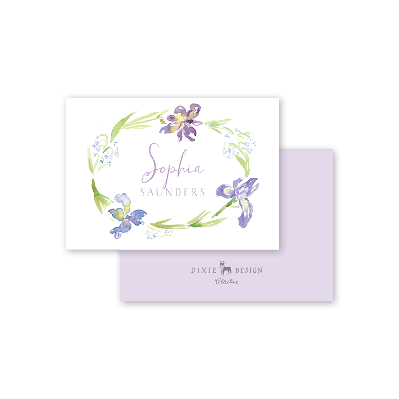 Iris Wreath Calling Card