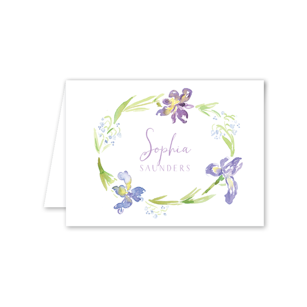 Iris Wreath Notecard