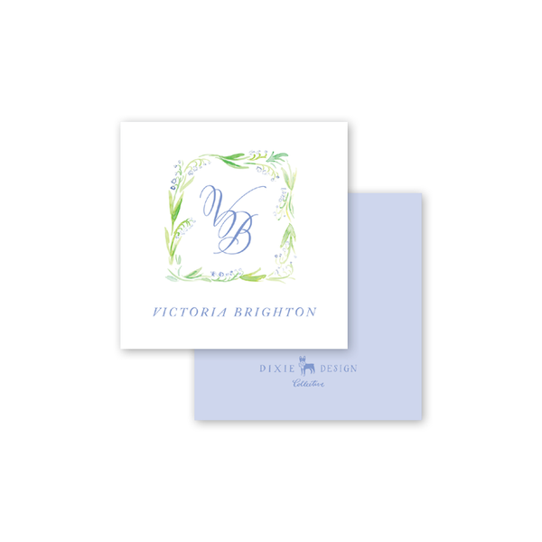 Lily of the Valley Blue Calling Card