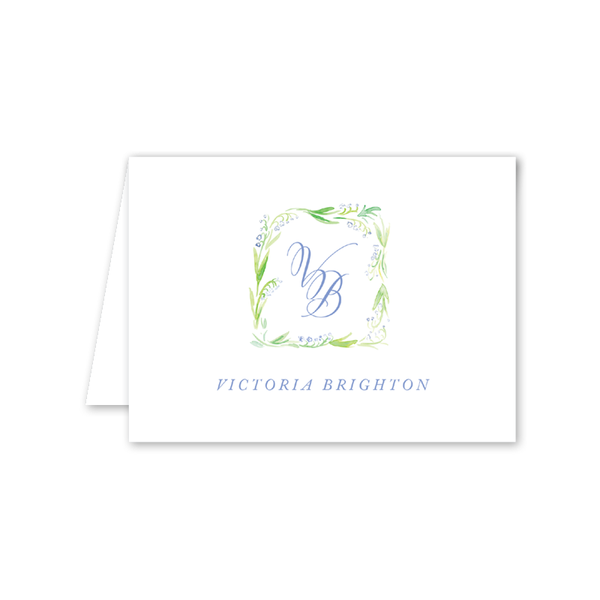 Lily of the Valley Blue Notecard