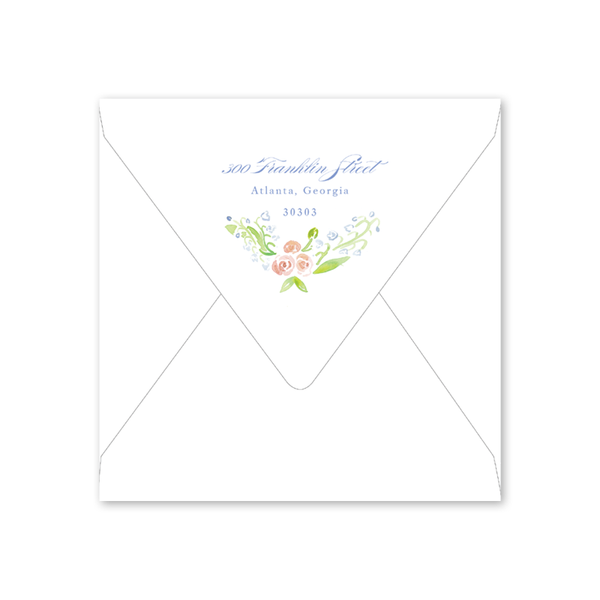 Lily of the Valley Pink Bridal Tea Envelopes