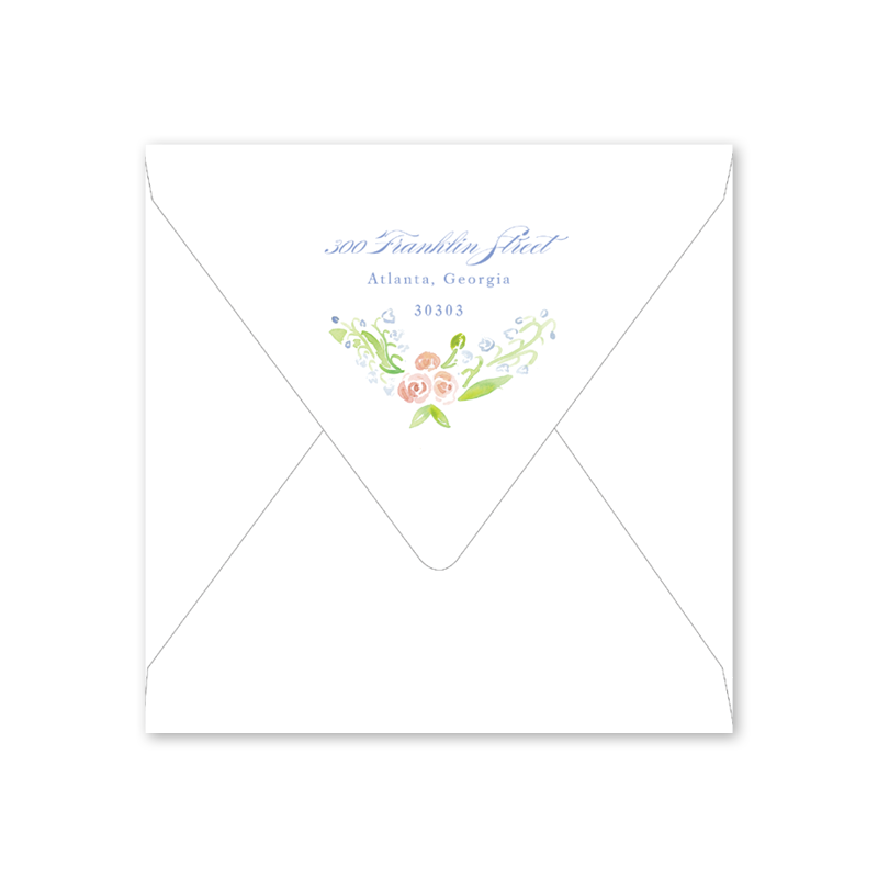 Lily of the Valley Pink Bridesmaid Brunch Envelopes
