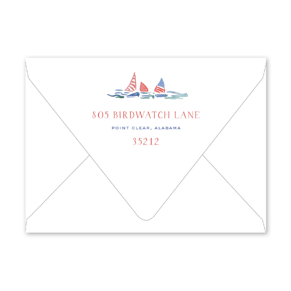 Sailing Birthday Envelopes
