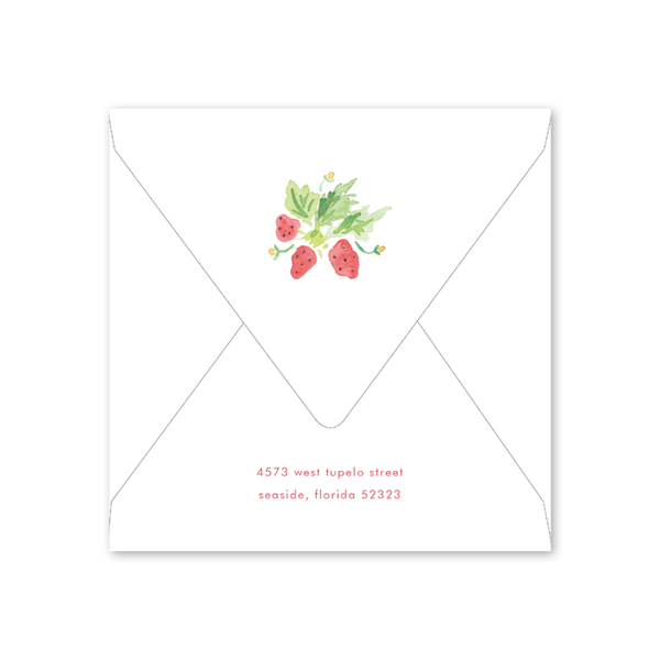 Strawberry Picnic Birthday Envelopes