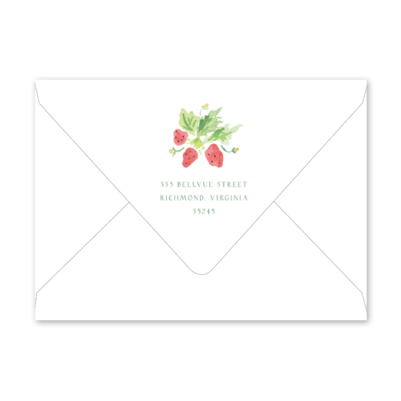 Strawberry Picnic Bridal Shower Envelopes