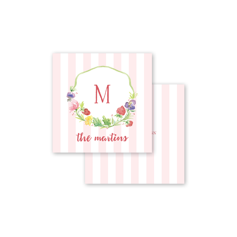 Strawberry Picnic Calling Card