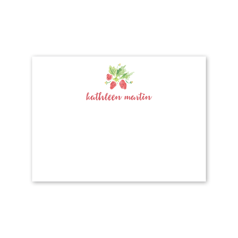 Strawberry Picnic Notecard