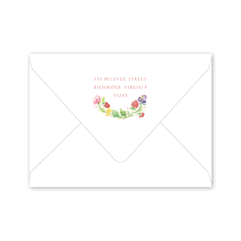 Strawberry Picnic Notecard Envelopes