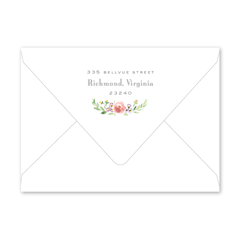 Wildflower Crest Baby Shower Envelopes