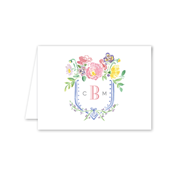Wildflower Crest Notecard