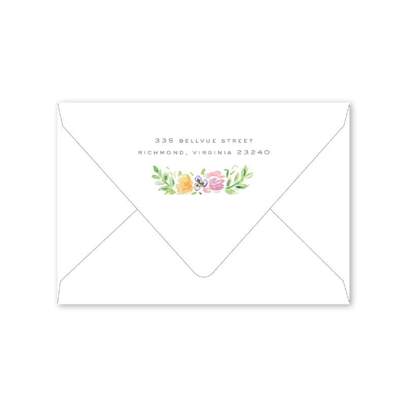Wildflower Crest Notecard Envelopes