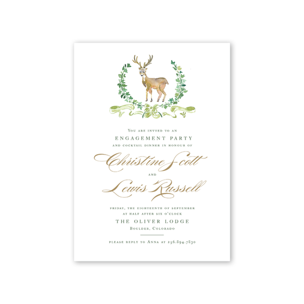 Woodland Deer Engagement Party