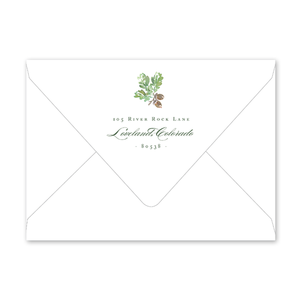 Woodland Deer Engagement Party Envelopes