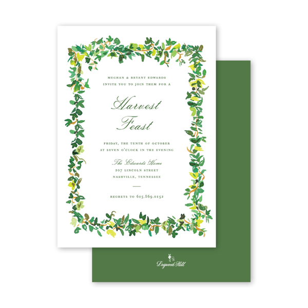 English Ivy Fall Invitation