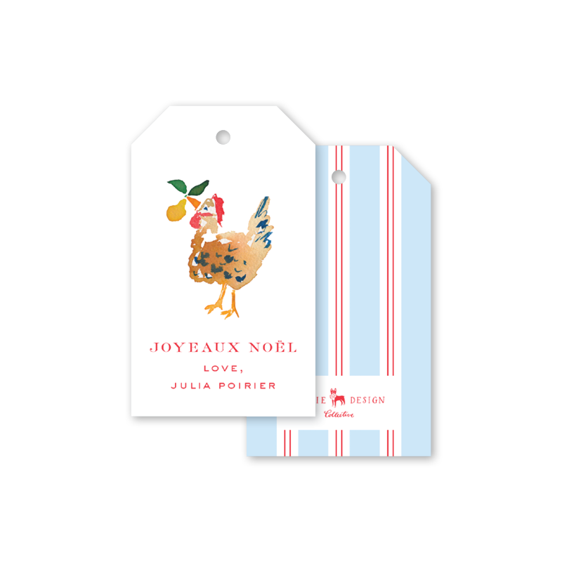 Twelve Days of Christmas Stripe Gift Tags