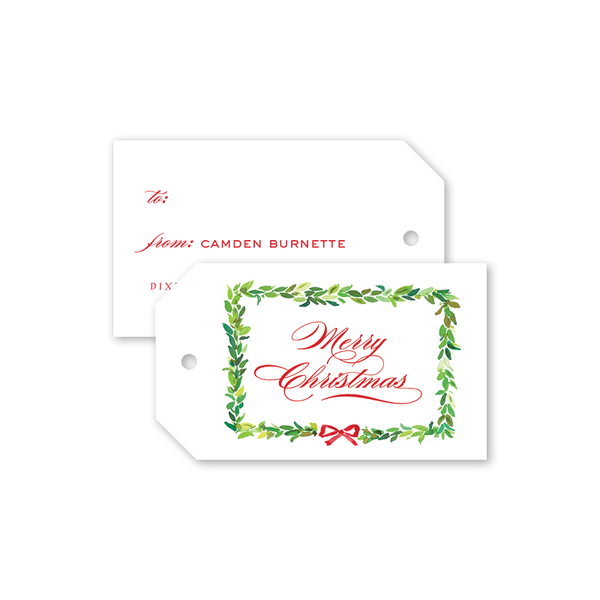 Bay Leaf Border Gift Tags
