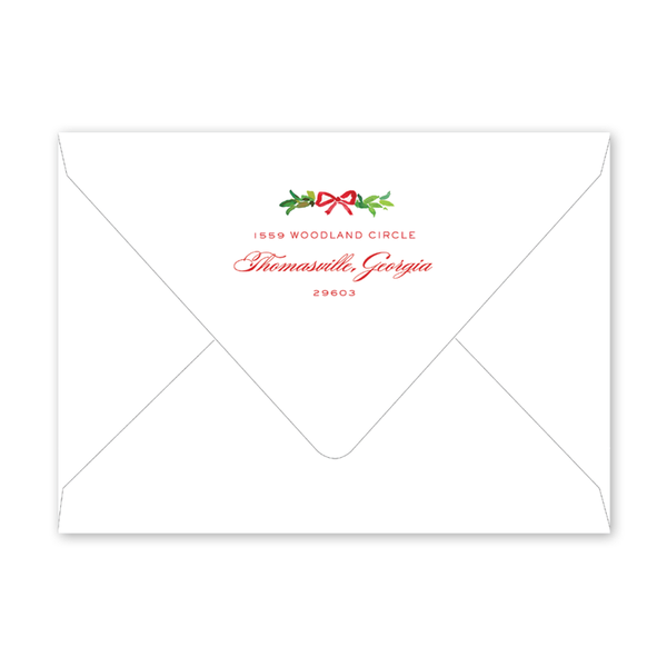 Bay Leaf Border Invitation Envelopes