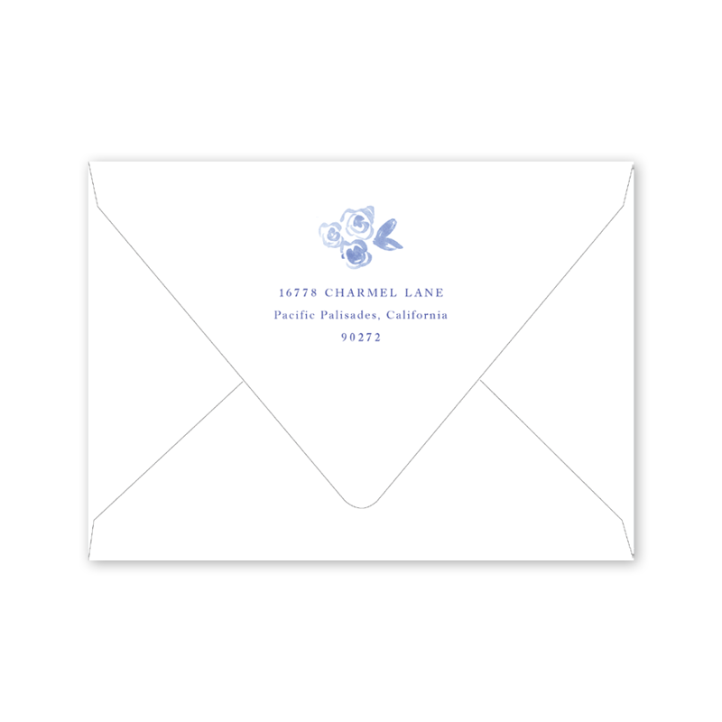 Blue and White Birth Announcement Envelopes